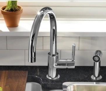 Delicieux Modern Kitchen Faucets. A Faucet With A Side Spray ...
