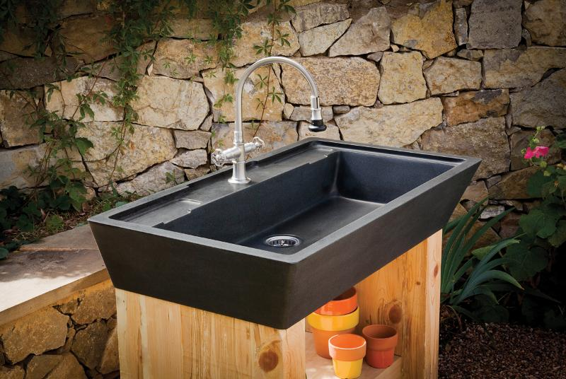 Merveilleux ... Ental Outdoor Room,u201d Providing Faucets And Sinks That Look Fantastic  And Are Also Durable And Functional For The Outdoors. A Potting Sink For  The Avid ...