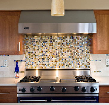 Kitchen With Glass Tile Backsplash Alluring How To Install A Glass Tile Kitchen Backsplash  'howto' & Diy Blog 2017