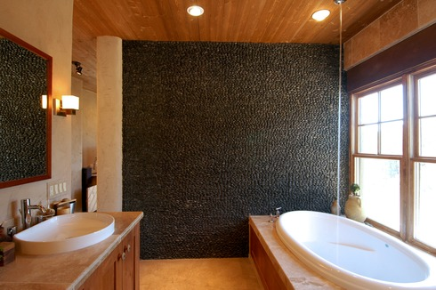 VividBlack_Standing_Pebble_Tile_Wall_1