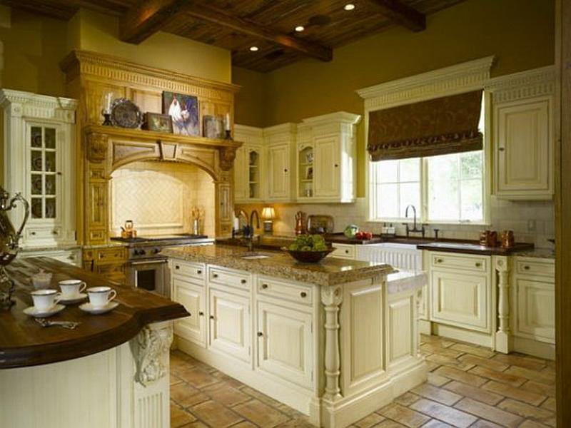 Gramour Galley Kitchen With Island Layout