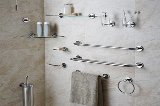 Bathroom Accessories | Shower Curtains, Toilet Paper Holder, Towel on