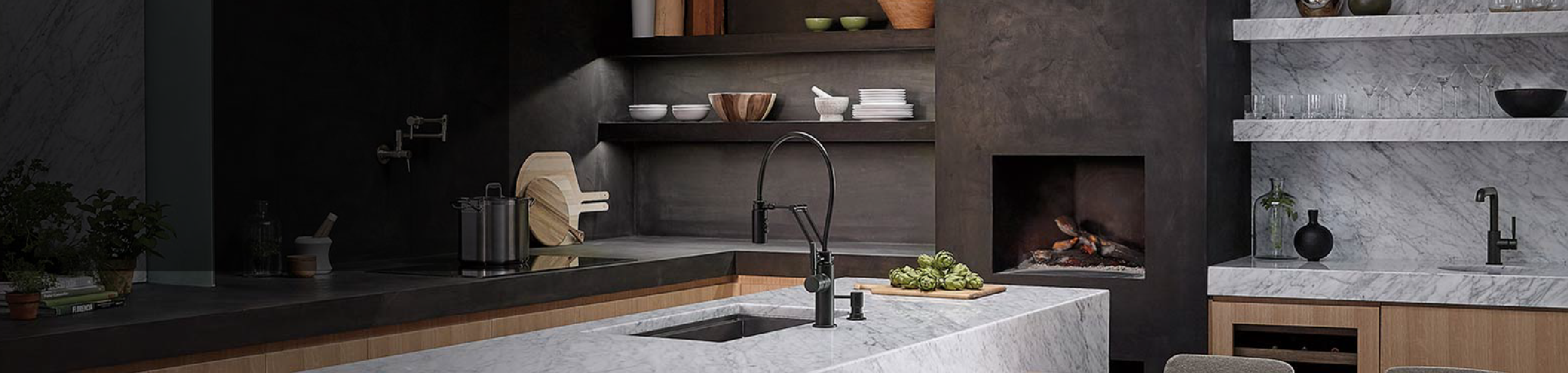Sophisticated Designs for the Kitchen at Plumbtile.com