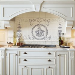 All Tiled Up Custome Painted Tile Amp Molding Kitchen