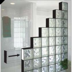 Interstyle bathroom kitchen tile ceramic glass for Glass block windows prices