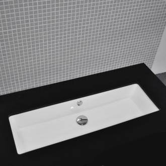 Lacava Under Counter Porcelain Lavatory With An Overflow