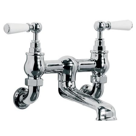 Lefroy Brooks Classic White Lever Wall Mount Bath Filler Plumbtile