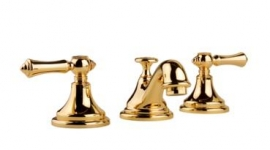 Meridian - Widespread Lavatory Faucet Lever Handles - 18K Gold