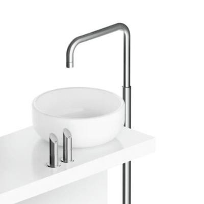 MGS   Floor Mounted Basin Column SQ Spout Hot/cold Handles With Push/push