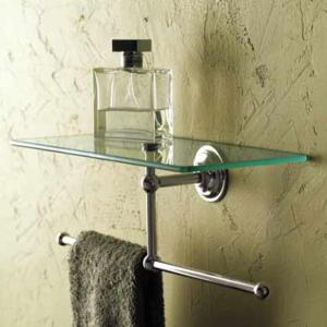 Ginger Motiv London Terrace 12 Inch Shelf With Towel Bar