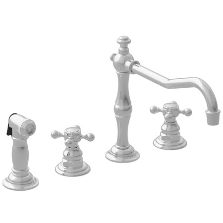 Newport Brass Widespread Pull Out Spray Kitchen Faucets
