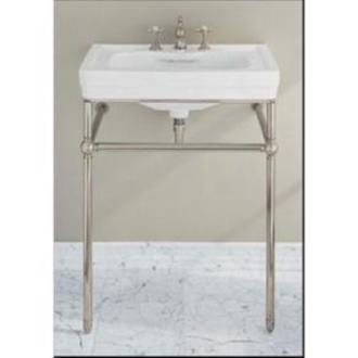Lovely Porcher   Lutezia 27 Inches Console Stand Kit Polished Nickel Frame