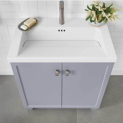 Ronbow 30 Inch Freestyle Sinktop 18 Inch Depth With Single Faucet Hole In White Best Pricing
