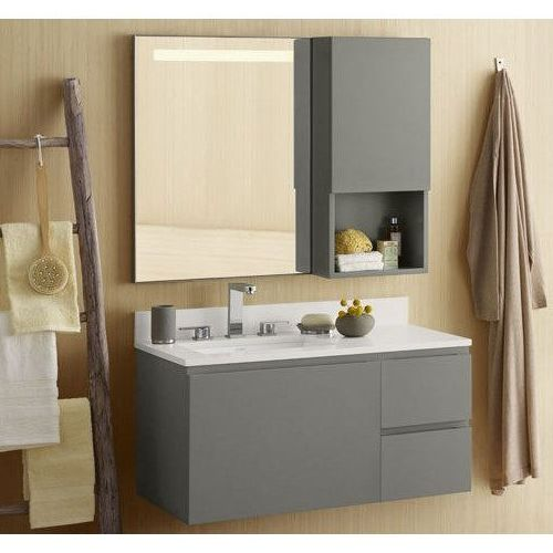 Ronbow   Ariella 31 Inch Wall Mount Bathroom Vanity Base Cabinet