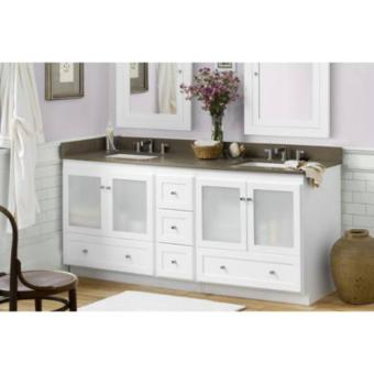 Ronbow Shaker 36 Inch Bathroom Vanity Cabinet Base Frosted Glass Doors On Left Best Pricing
