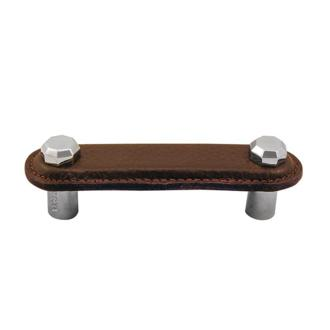 5-Inch Vicenza Designs K1162 Archimedes Leather Pull Antique Copper Black