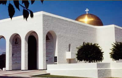 Greek Orthodox Church, Encinitas - Dome Exterior